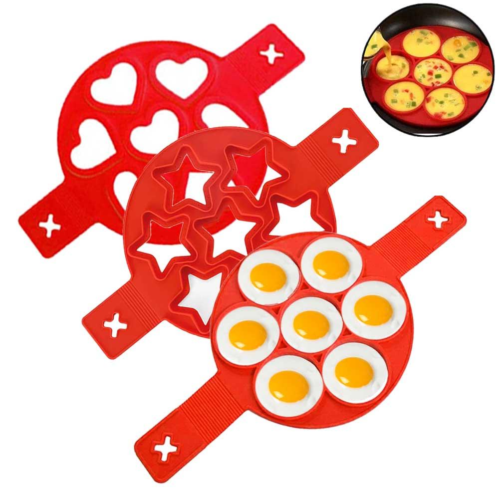 Антипригарная блинница с кольцом для яиц, силиконовая форма для яиц, формочка для яиц, омлет, аксессуары для кухни Кольца для яиц и блинчиков      АлиЭкспресс