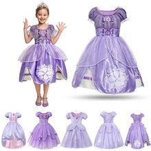 Платье принцессы для маленьких девочек косплей детский Рождественский