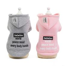 Cute Pet Dog Clothes For Small Dogs Soft Yorkies Pugs Puppy Coat Warm Clothing Hoodies