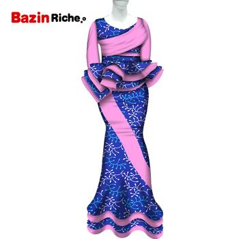 2020 tradycyjne afrykańskie Patchwork 2 sztuka komplety spódniczek odzież Bazin Riche afryki topy i spódnica syrenka komplety spódniczek dla kobiet WY5633 tanie i dobre opinie CN (pochodzenie) COTTON Kanga Odzież WOMEN Odzież afryka Tradycyjny odzieży BazinRiche african clothing African Clothes