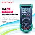 MASTECH MS8229 Цифровой мультиметр Авто диапазон 5 в 1 с NCV подсветка дисплей Удержание данных multimetro цифровой профессиональный тестер