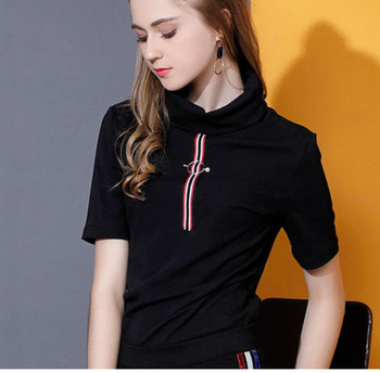 tshirt women t shirt friends black new hot style letter friends print short sleeve Europe