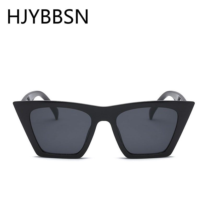 HJYBBSN Oversized Square Cat Eye Women Sunglasses Vintage Shades For Women Luxury Brand Leopard Sun Glasses Driving Eyeglasses