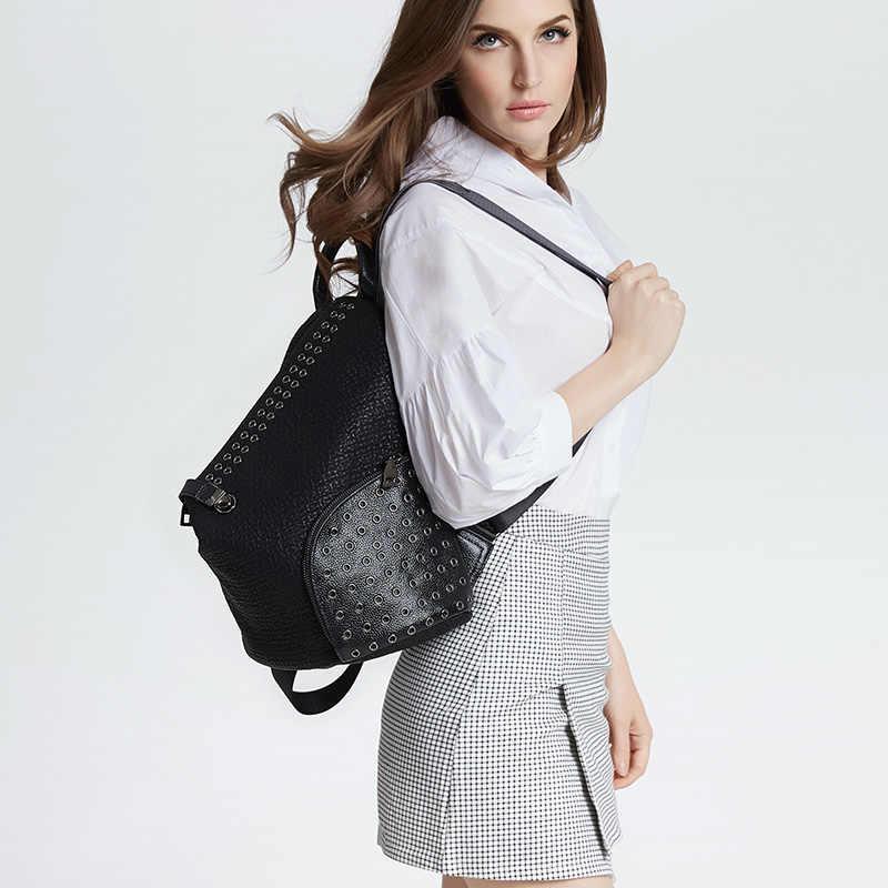 POMELOS рюкзак женские модные повседневные школьные сумки для девочек-подростков новые дизайнерские заклепки маленький рюкзак для женщин