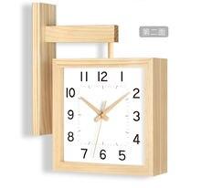 Настенные часы с двойным циферблатом скандинавские современные