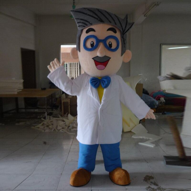Costume de mascotte de docteur taille adulte costume de fête classique