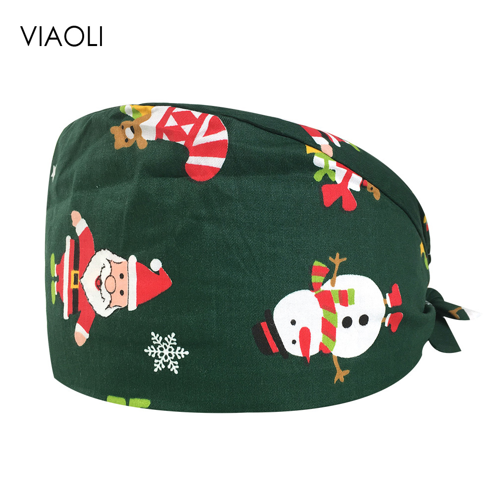 Intensive Care Room Work Room Dust-proof Hat Cotton Print Female Operating Room Caps Cute Health Cap Physician Multi-purpose Hat