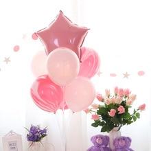 Стиль День Рождения украшения блесток воздушный шар украшения на стол набор свадебные рубиновые макароны воздушный шар дорога свинец