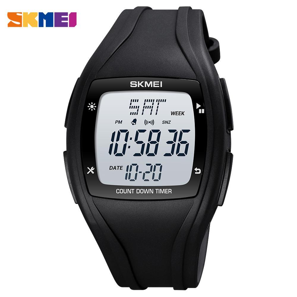 Luminous Display Men Digital Watches SKMEI Top Brand Countdown Alarm Electronic Stopwatch 50M Waterproof Watch Clock for Male