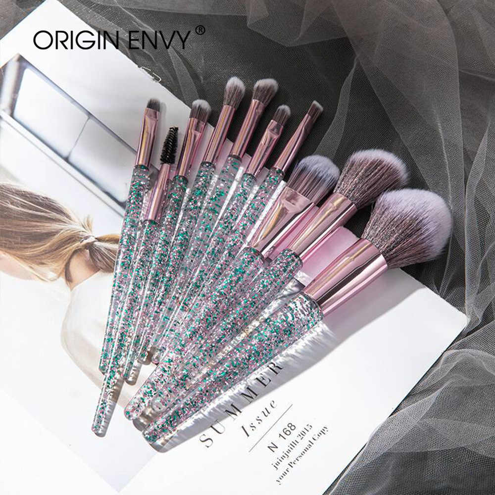Oorsprong Envy 10 Stuks Professionele Make-Up Kwasten Set Cosmetische Brush Beauty Tool Kits Voor Foundation Wenkbrauw Poeder Lip Oogschaduw
