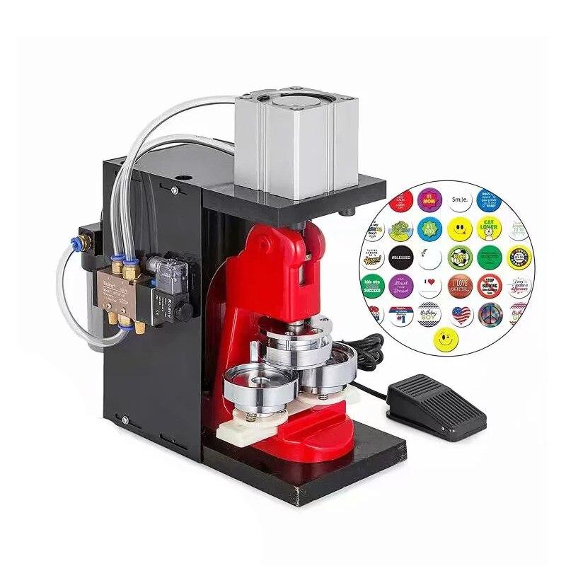 WYQD001 Pneumatic Badge Machine  Desktop Pneumatic Badge Refrigerator Paste Pressing Mold Making Machine Without Pump 1PC