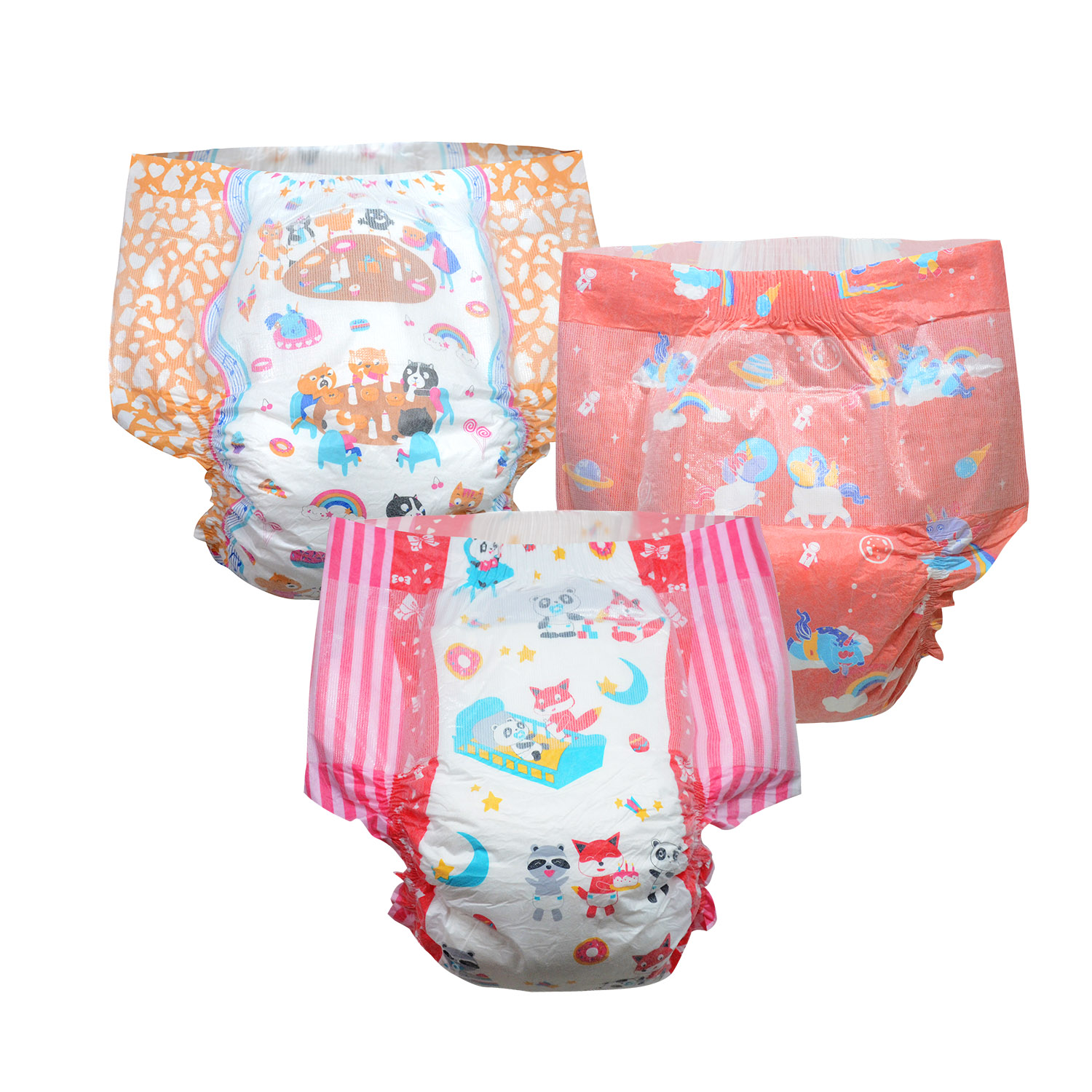 Rainbow Week Diaper ABDL Boy Girl Adult Size Diaper 6000ml Absorbtive Elastic Waistline DDLG Diaper Dummy Dom 6pcs In A Pack