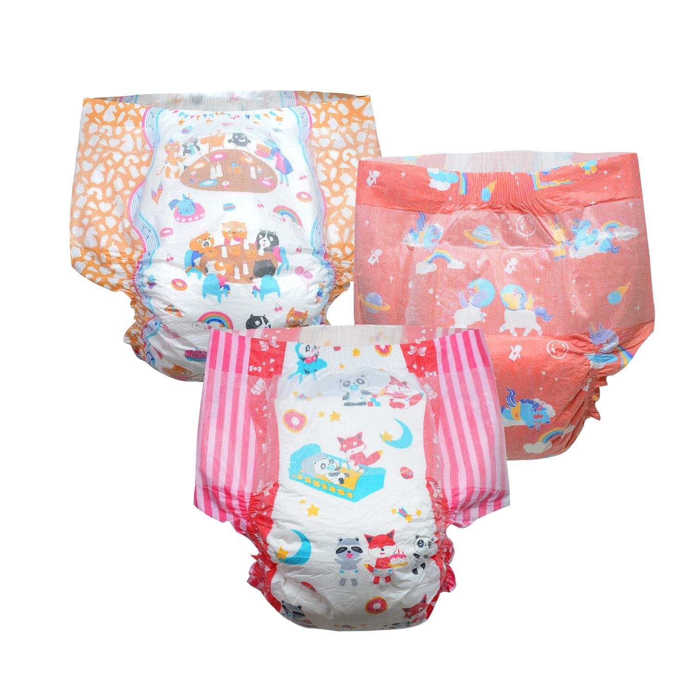 Rainbow Week Diaper ABDL Boy Girl Adult Size Diaper 6000ml Absorbtive Elastic Waistline DDLG Diaper Dummy Dom 6pcs In A Pack
