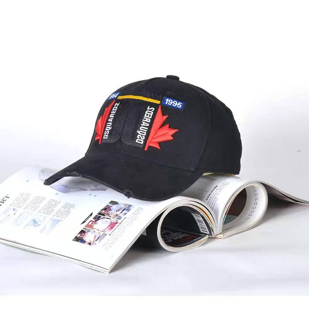 Chapéu dsq marca masculina bonés de beisebol 100% algodão unissex ajustável bonés de beisebol carta preto marca boné para homem