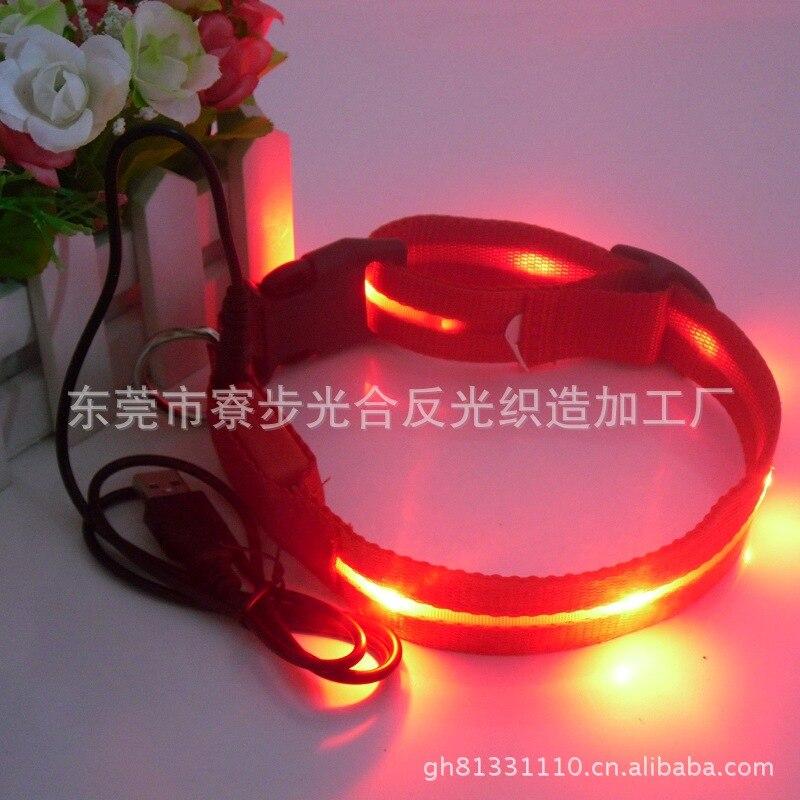 Pet Supplies Small, Medium And Large Dog Collar USB Charging Light Point LED Luminous Dog Collar