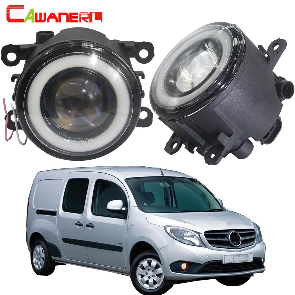 Cawanerl For Mercedes-Ben Citan 415 2012-2018 Car LED Fog Light Angel Eye DRL Daytime Running Lamp 30W 3000LM 12V 2 Pieces