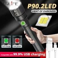 Lo más nuevo 2020 XHP90 xhp90.2 xhp70.2 potente linterna LED USB Linterna de mano 26650 linterna táctica recargable para acampar