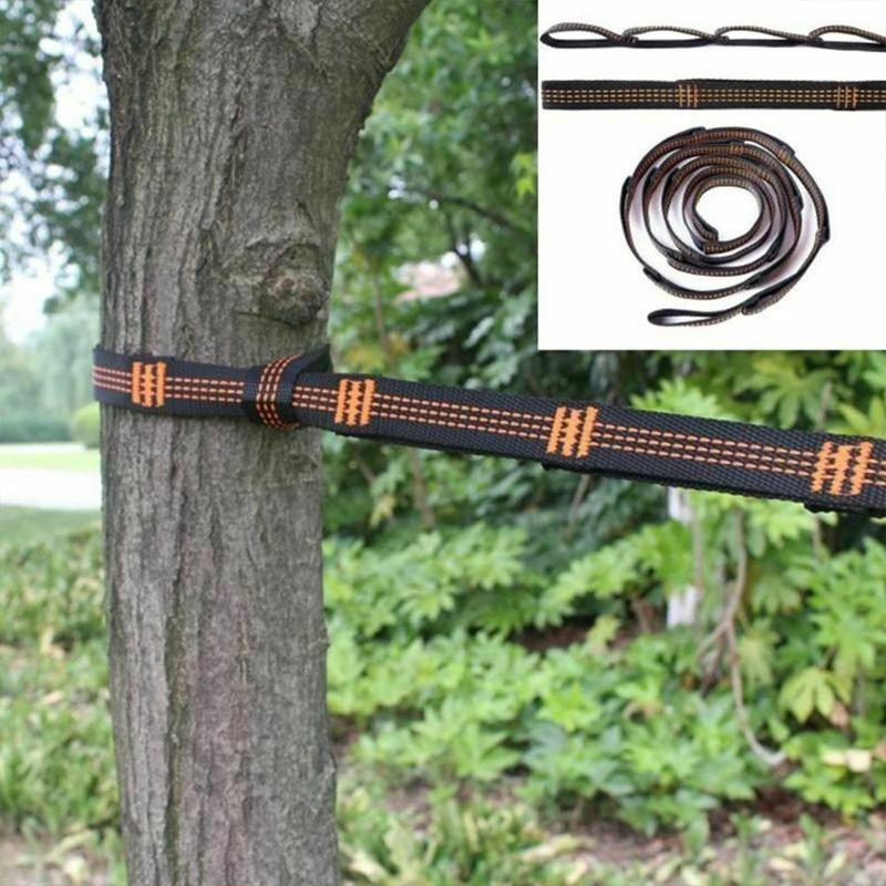 Hammock Outdoor Tied Rope Special Tied Tree Straps High Load-bearing Ribbon Rock Climbing Flat Belt Rope Outdoor Accessories