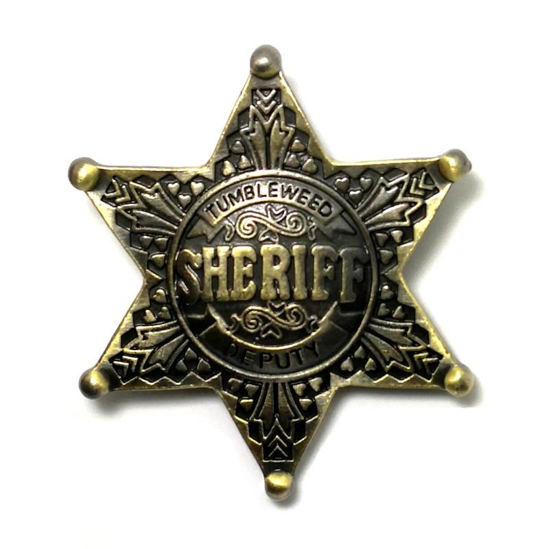 Винтажная брошь в виде знака шерифа, помощника, знака на булавке