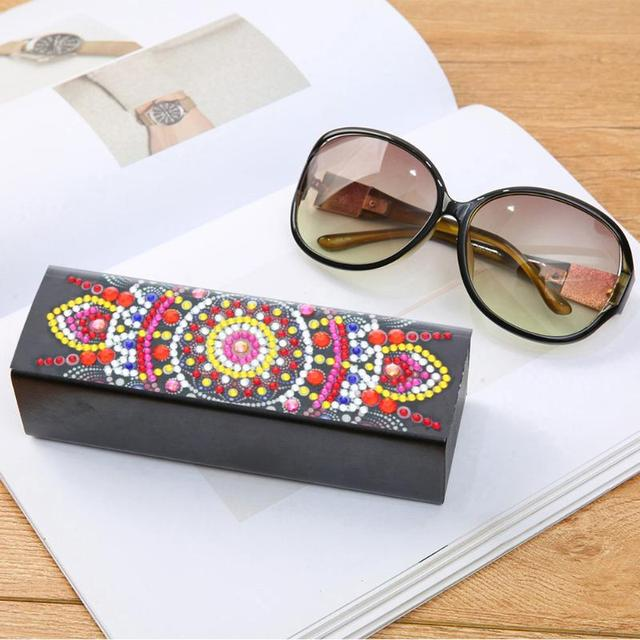 Diamond Sunglasses with Holder