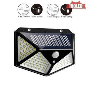 Solar Light 100 LED Portable Energy Lamp Waterproof Home Yard Outdoor Lighting Led Garden Pathway Wall 4