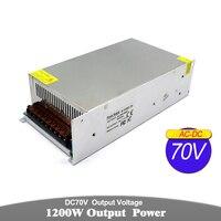 Power Supply dc70V 17.1A 1200w Power Source Driver Transformer 110V 220V AC to DC 60V Power Adapter For CNC Machine CCTV Motor