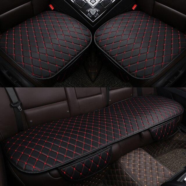 Housse universelle en cuir pour siège de voiture, housse de siège avant et arrière, couvre siège, tapis de protection, accessoire dintérieur