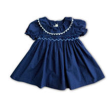 Детское летнее платье с бантом на пуговицах коротким рукавом