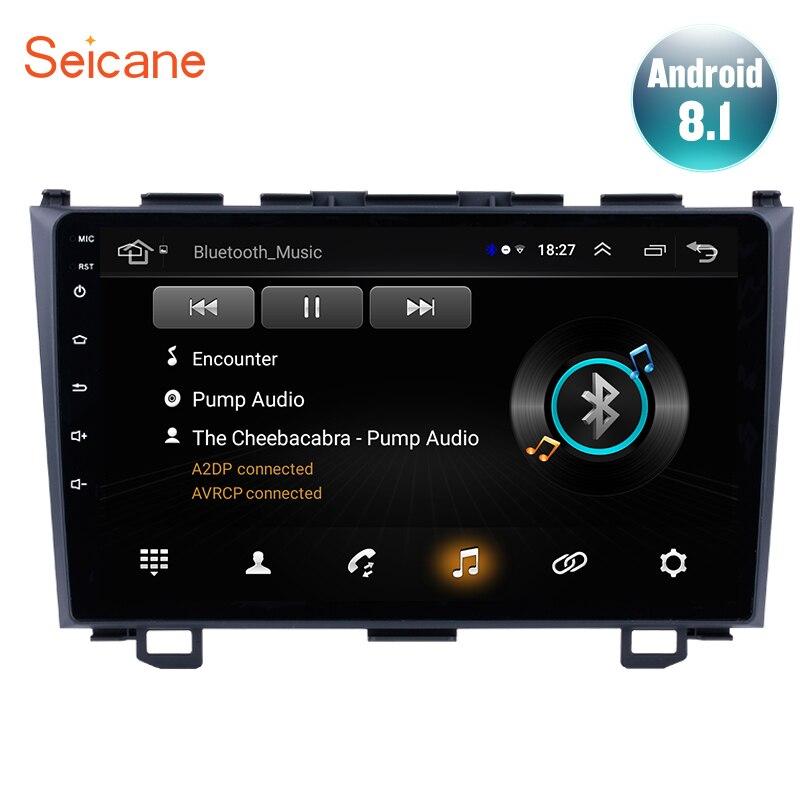 2Din Seicane Android 8.1 Car Radio Navegação GPS Para Honda CRV 2006 2007 2008 2009 2010 2011 Player Multimídia Cabeça unidade