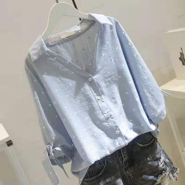 5XL Plus Size Autumn 2019 Short Sleeve Casual Women Shirt Korean Shirt Elegant Slim Office Women Blouse Streetwear Ladies Tops 2