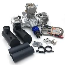 DLE130 RC Model benzinli motor iki silindirli 130CC deplasman çift silindirli iki vuruş hava soğutma el başlangıç