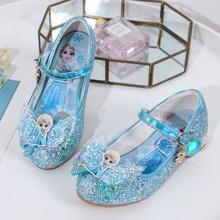 Disney Frozen Shoes For Baby Girls Children's Dance non slip Princess Shoes Cartoon Elsa Shoes Girls Sandals
