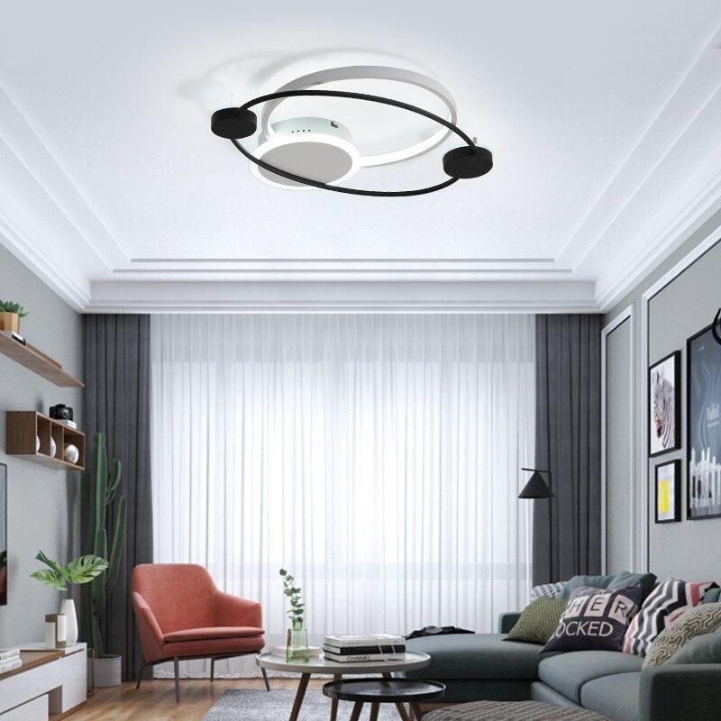 Nordic simples conduziu a luz de teto acrílico moderno sala estar quente romântico luminária quarto cabeceira controle remoto nova lâmpada do teto - 3