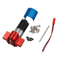 370 Power Metal Motor Reverse Gearbox with Heat Sink RC Car Spare Parts for WPL B1 B14 B24 C14 C24 B16 B26 B36 JJRC Q60