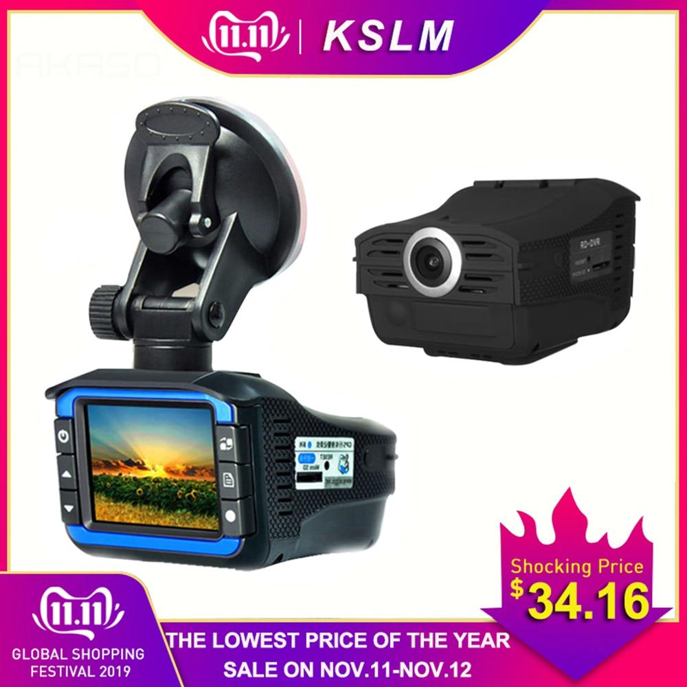 AKASO Full HD 720P Автомобильный видеорегистратор Камера 2в1 Автомобильный видеорегистратор, радар детектор камера видео рекордер Dash Cam Лазерная ск