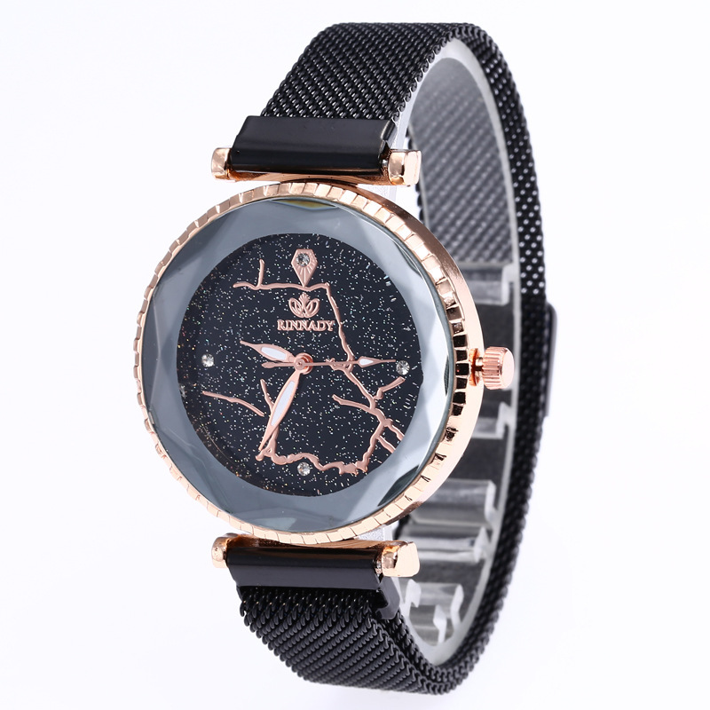 JOOM Sell Like Hot Cakes In Same Star Contracted Disc Set Auger Wrist Steel Mesh Belt Magnetic Buckle Students Watch