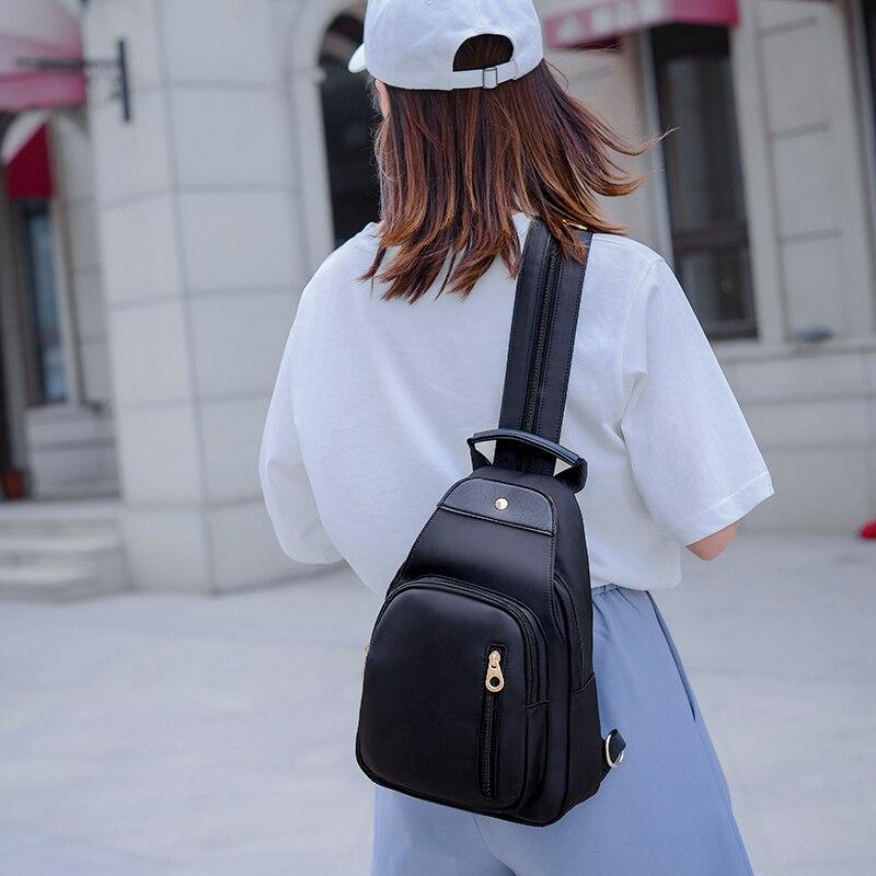 Moda feminina pequena mochila oxford impermeável mini