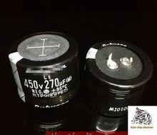 6 pçs/lote capacitância capacitância 270uf 450V eletrolítico 450v270uf 35x25mm