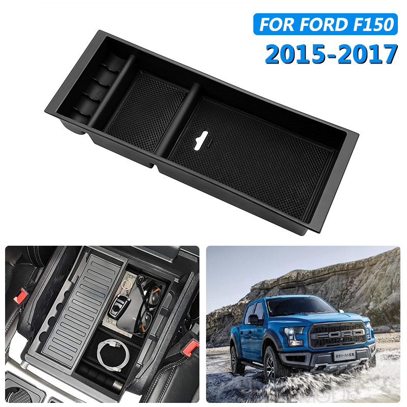 For Ford F150 2015 2017 Car Center Console Armrest Storage Box Arm Rest Container Organizer Box Tray Interior Accessories in Stowing Tidying from Automobiles Motorcycles