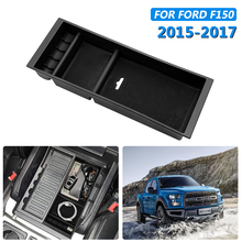 купить For Ford F150 2015-2017 Car Center Console Armrest Storage Box Arm Rest Container Organizer Box Tray Interior Accessories дешево