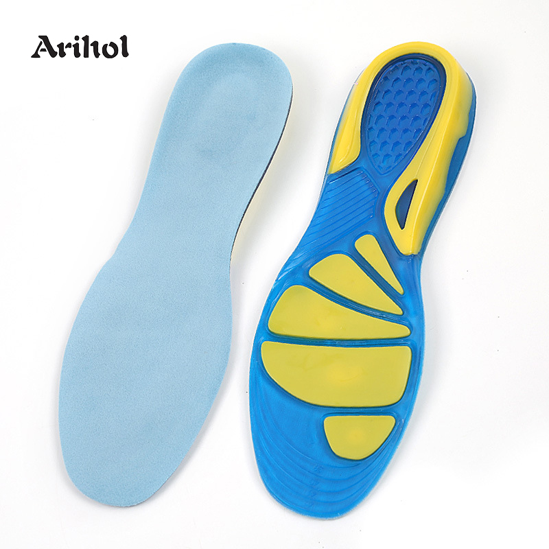 Gel Sports Orthotic Insoles Arch Support Shock Absorption Cushioning Shoe Sole For Running Flat Feet Plantar Fasciitis Shoe Pad