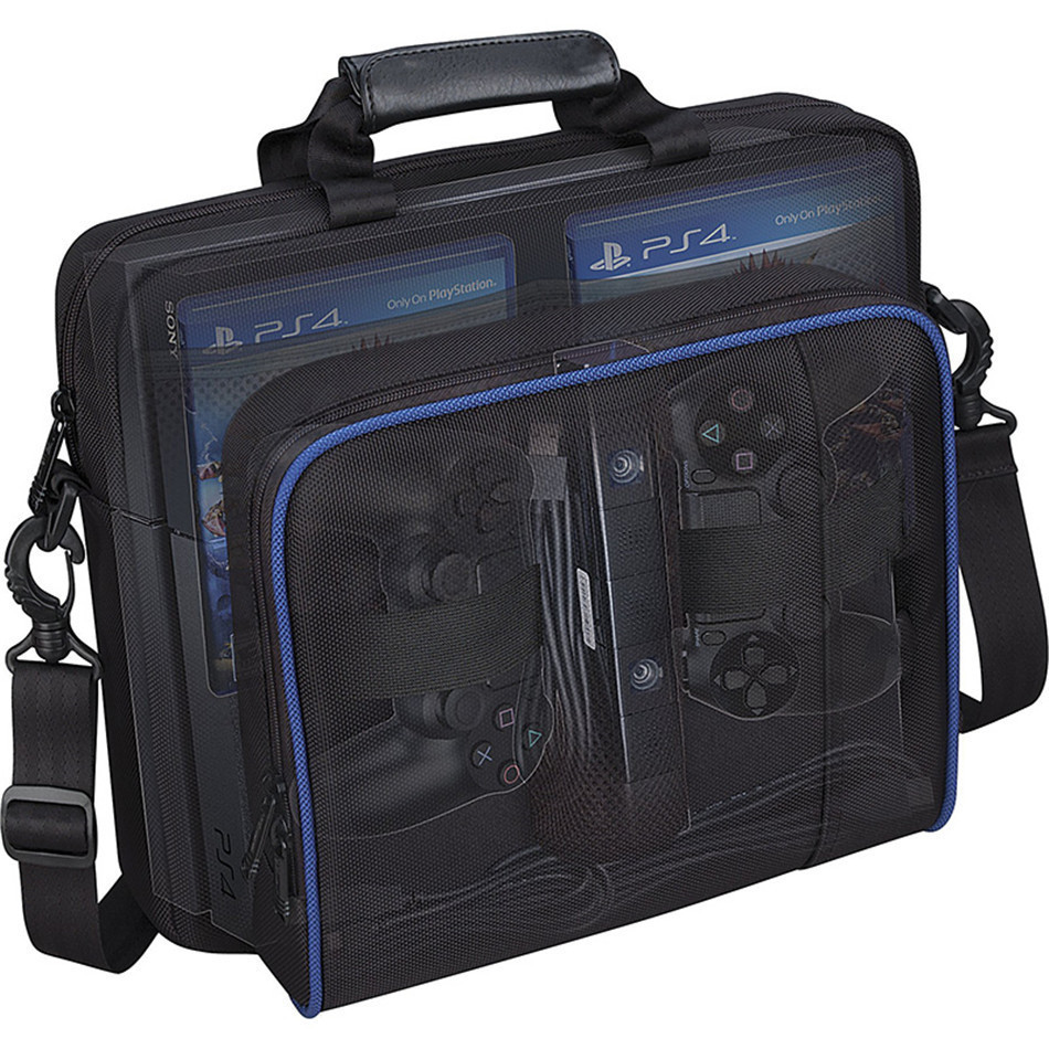 For <font><b>PS4</b></font> / <font><b>PS4</b></font> Slim <font><b>Console</b></font> Bag Travel Storage <font><b>Cases</b></font> Protective Shoulder Controller bags for SONY PlayStation 4 Gamepad Handbag image