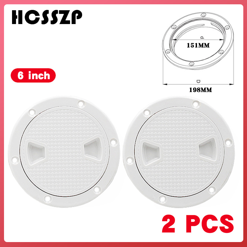 "2 Pcs 6"" ABS Round Inspection Hatch Tight Screw Out White Anti corrosive Inspection Access Deck Plate for Marine Boat Yacht-in Marine Hardware from Automobiles & Motorcycles"