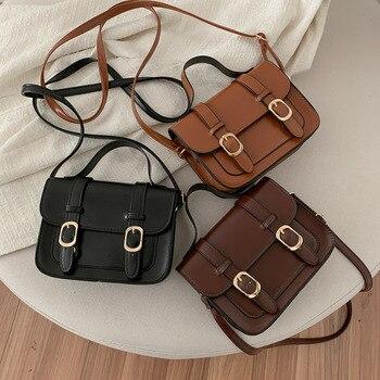 New Style Winter Vintage Flap Lock Classic Women Bags Casual Leather Shoulder Bags Clutch Crossbody Bag Handbag Messenger