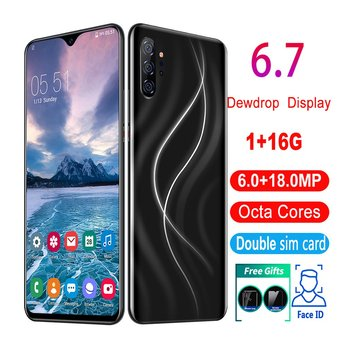 6.7 Inch Android Smartphone 1 + 16G Support Facial Fingerprint Unlock Mtk Android Smartphone Support TF Card