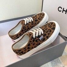 Skate Sneakers Vulcanized-Shoes Platform Shoes Casual Leopard-Print Canvas Women Female