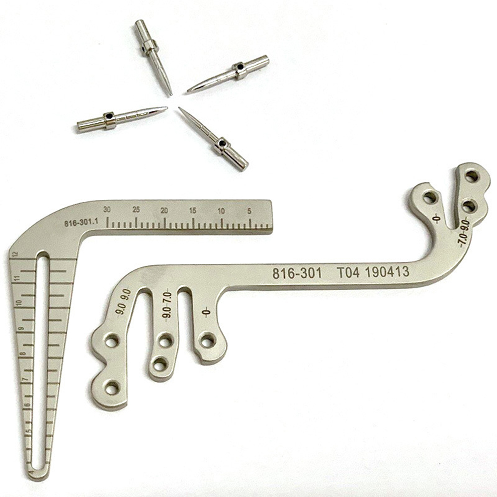 Dental Implants Instruments Oral Planting Positioning Guide Dental Implant Tools Planting Positioning Angle Ruler Dentist Tools