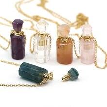 Модное ожерелье с подвеской в виде флакона духов бутылочек эфирного