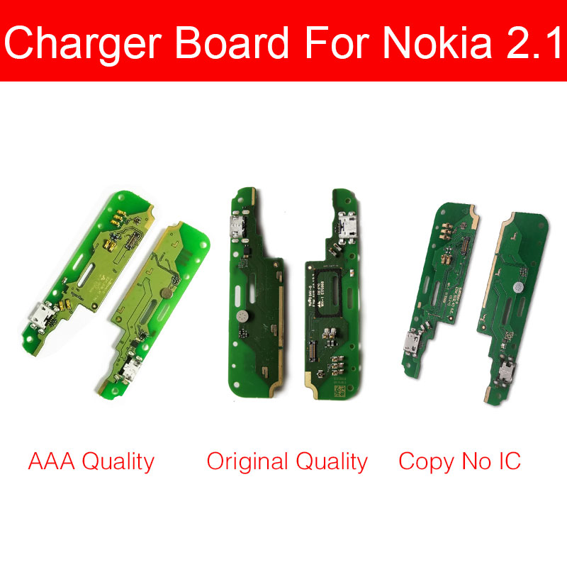 100% Genuine USB Charger Board For Nokia 2.1 2 (2081) TA-1080 TA-1084 TA-1092 TA-1093 Charging Port Dock USB Board Replacement