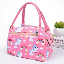 Lunch font b Bag b font Women s Portable Bento Box Alpaca Cactus Unicorn Flamingo Bear